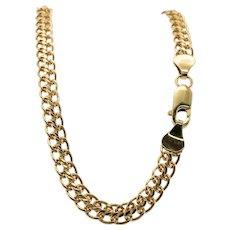 """14K Gold Bracelet by Milor 8"""" Long Lobster Clasp Italy Vintage"""