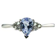 Platinum Iolite Diamond Ring Band