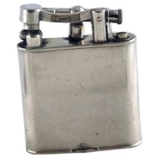 Dunhill c 1930 Silver Plate Lift Arm Lighter - As is