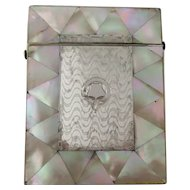 Victorian Mother of Pearl and Silver Calling Card Case