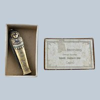Figural Penknife Scissors Silver Enamel King Tut's Tomb Egyptian Revival