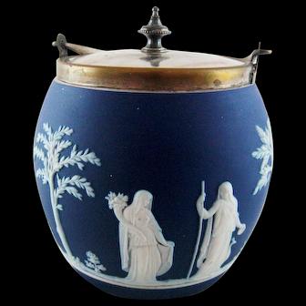 Antique Wedgewood Jasperware Biscuit Barrel – c 1900