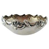 Art Nouveau Jugendstil 800 Silver Bowl - Germany