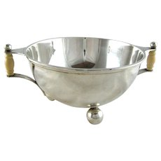Art Deco Sterling Silver Bowl by Tuttle c 1930