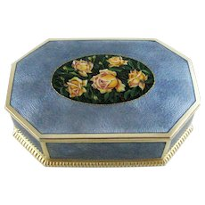Large Austrian Guilloche Enamel on Silver Box – by Alexander Sturm – c 1925