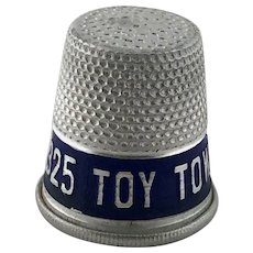 Vintage Advertising Thimble Toy Town Laundry – Aluminum