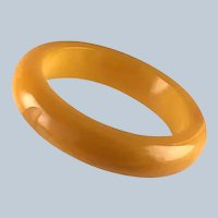 Vintage Yellow Bakelite Bracelet