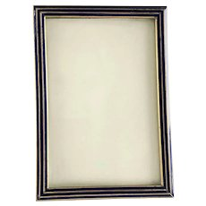 Antique Brass Blue Enamel Picture Frame – circa 1910