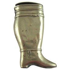 C 1900 Brass Dutch Boot Match Safe Vesta