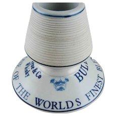 Antique Whiskey Advertising Match Striker – Bulldog - Table Vesta