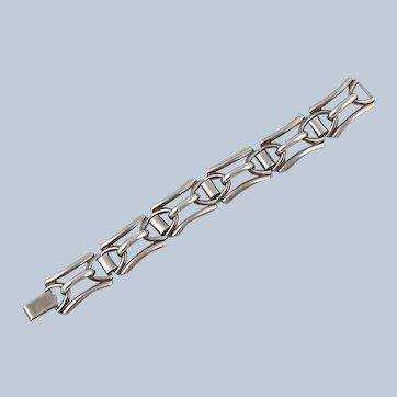 1950's Sterling Silver Link Bracelet - Harry S Bick