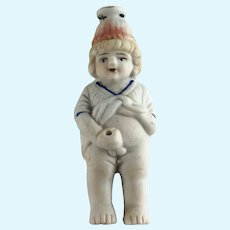 German Bisque Naughty Boy Pee Pee Squirt Doll