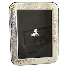 Birks Vintage Hand Hammered Sterling Silver Picture Frame