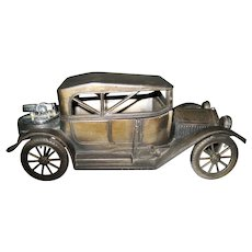 Vintage Metal Cadillac Car Cigarette Box with Lighter - Japan