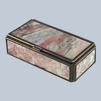 Vintage Oblong Hinged Box – Pink Chalcedony