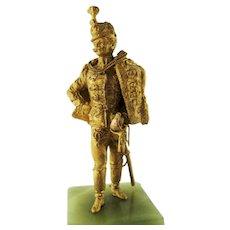 Small Dore Bronze Prussian Military Soldier - circa 1890
