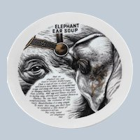 Fornasetti Elephant Ear Improbable Recipe Plate for Fleming Joffe Leather Co.
