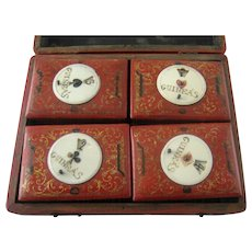 18th C English Games Box with Counter Boxes