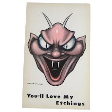 R. Hassler – You'll Love My Etchings - Post Card – Progressive Publications