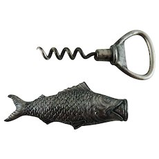 Antique Figural Fish Pocket Corkscrew Bottle Opener – JB