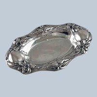 Gorham Sterling Silver Art Nouveau Daffodil Dish