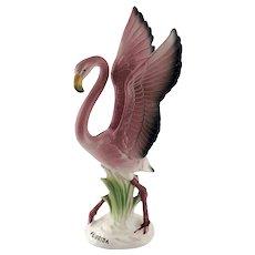 Pink Flamingo FLORIDA Souvenir Statue Figurine – Mid Century