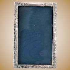 Antique Sterling Silver Frame Etched Flowers