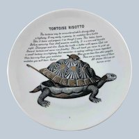 Fornasetti Tortoise Risotto Improbable Recipe Plate for Fleming Joffe Leather Co.