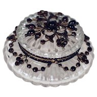 Antique Rock Crystal and Garnet and Box -  Exceptional
