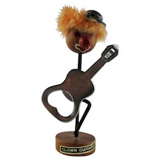 Mid-Century Clown Guitar Magnetic Bottle Opener Holder
