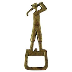 Art Deco Brass Golfer Bottle Opener