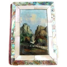 Grand Tour Eglomise Book Form Needle Case