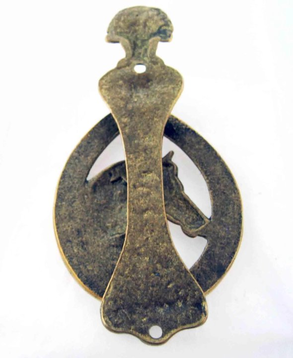 Antiques Brass Horse In Horseshoe And Fox Doorknocker