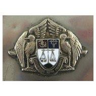 Antique Match Safe Vesta - Coat of Arms - Circa 1900