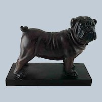 Large Vintage Composition Figure of a Bulldog