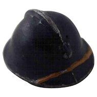 Vintage Miniature Lead Military Hat
