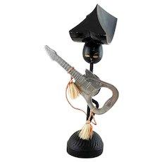 Ideal Mid-Century Man Mandarin Hat with Magnetic Guitar Bottle Opener Holder