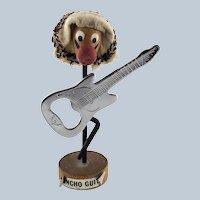 Mid-Century Pancho Guitar Magnetic Bottle Opener Holder