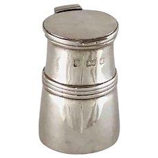 Sterling Silver Miniature Milk Churn London 1900 Inkwell