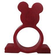 Mickey Mouse Bakelite Napkin Ring – Red