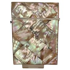 Victorian Mother of Pearl Calling Card Case Palais Royale