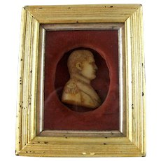 Napoleon Bonaparte Wax Portrait Miniature 19th Century