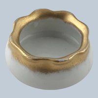 Antique Austrian Porcelain Open Salt Gold Trim