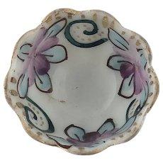 Antique Hand Painted Floral Open Salt