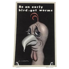 R. Hassler - Be an early bird – get worms - Post Card – Progressive Publications