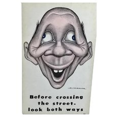 R. Hassler – Before crossing the street – look both ways - Post Card – Progressive Publications