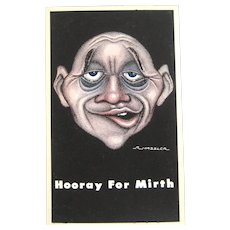 R. Hassler – Hooray For Mirth - Post Card – Progressive Publications