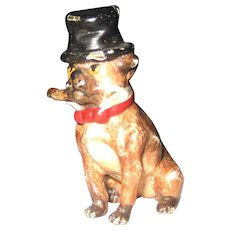 Antique Vienna Bronze Pug Dog – Top Hat Cigar