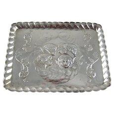 Birmingham 1909 Reynolds Angels Dressing Table Tray Sterling Silver