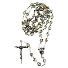 Vintage Rosary with Crystal Beads – ITALY